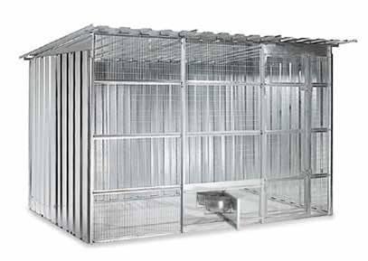 Box per cani maglia 50 x 50 mm rete 4 componibile for Box per cani da esterno usati