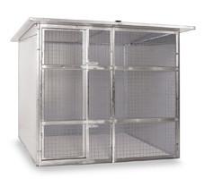 Box per cani coibentato cm 200 x 200 rete 4 for Box per cani prefabbricati usati